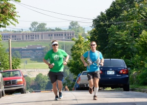 Running with Danny at Mile 2.