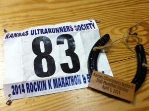 Horseshoes are the coveted finisher's hardware at Rockin' K. This is my second horseshoe so far.