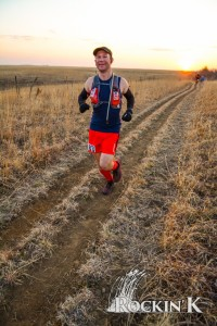 The race starts at sunrise in the Smoky Hills of Kansas.