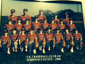 1990 MKC Electronics baseball team; Johnson County 3&2; fourth grade.