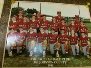 1991 MKC Electronics baseball team; Johnson County 3&2; fifth grade.