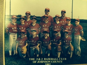 1992 MKC Electronics baseball team; Johnson County 3&2; sixth grade.