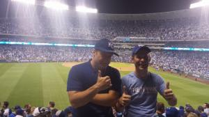 Celebrating a Royals playoff victory for the first time since I was 5 years old. The ticket was money well spent.