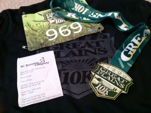 Great Plains 10K schwag