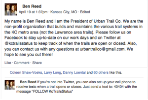 This informative, non-controversial post got Ben Reed blocked. As of Monday night he has not been reinstated.