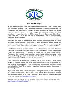 Kansas Trails Council press release regarding the trail repair plan at Clinton State Park.
