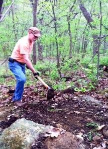 Jim Megerson builds new trail.
