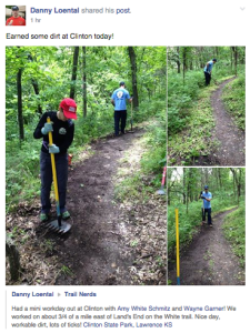 Trail repair on Tuesday, May 19, 2015.