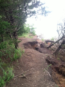 The collapsing section of Blue Trail.