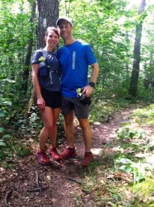 Alex and me on the Appalachian Trail in Vermont!